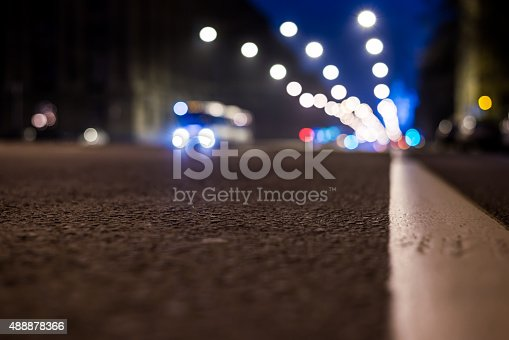 820883024 istock photo Nights lights of the big city, the night avenue 488878366