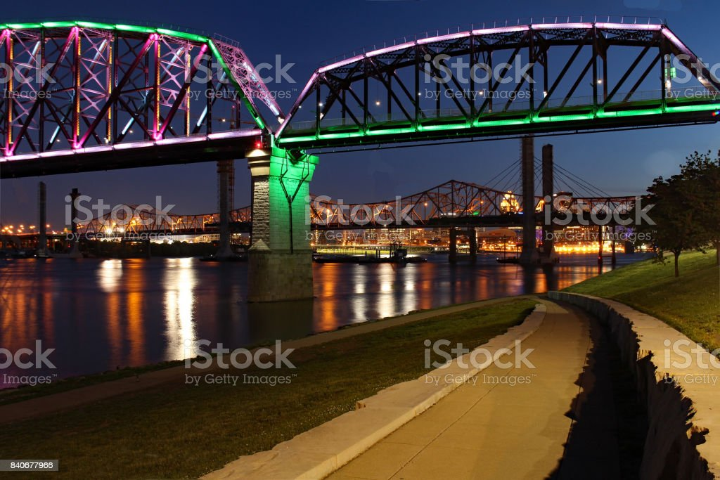 A nights walk stock photo
