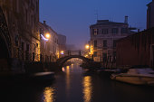 istock Nightscape of canal in Venice Italy 1198462903