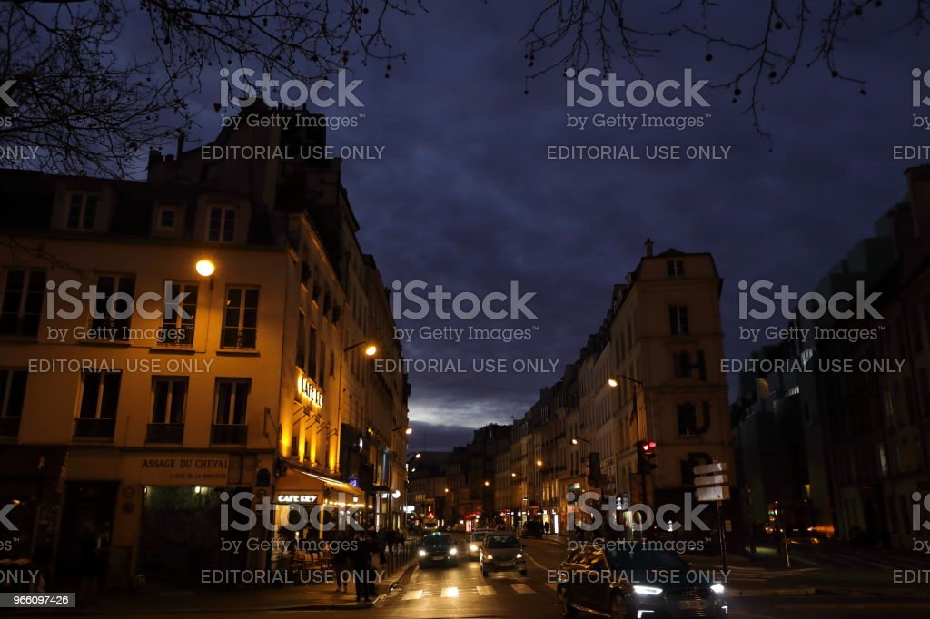 nightscape of Paris, France Paris, France - 24 January 2018 :nightscape of Paris.Paris is the capital city of France.  It is a major European city and has become the world center of art,  fashion, gourmet and culture. City Stock Photo