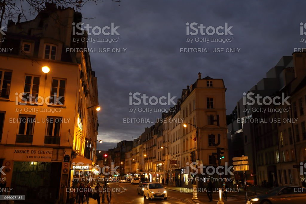 nightscape van Parijs, Frankrijk - Royalty-free Europa - Geografische locatie Stockfoto