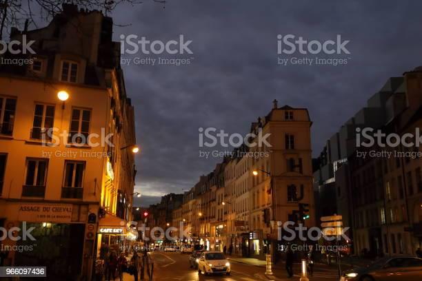 Nightscape Of Paris France - Fotografias de stock e mais imagens de Cidade