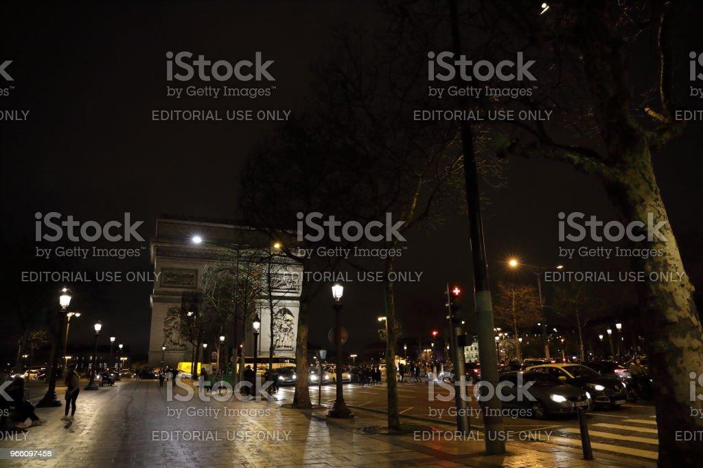 nightscape of Paris, France - Royalty-free Cidade Foto de stock