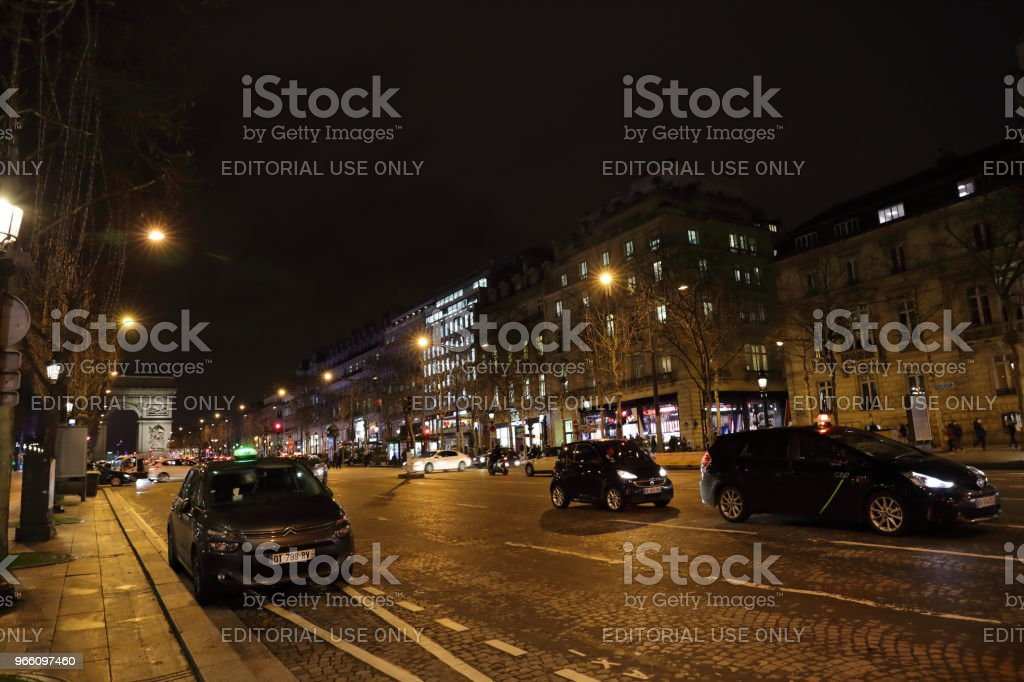 nightscape of Paris, France - Royalty-free Cidade Foto de stock