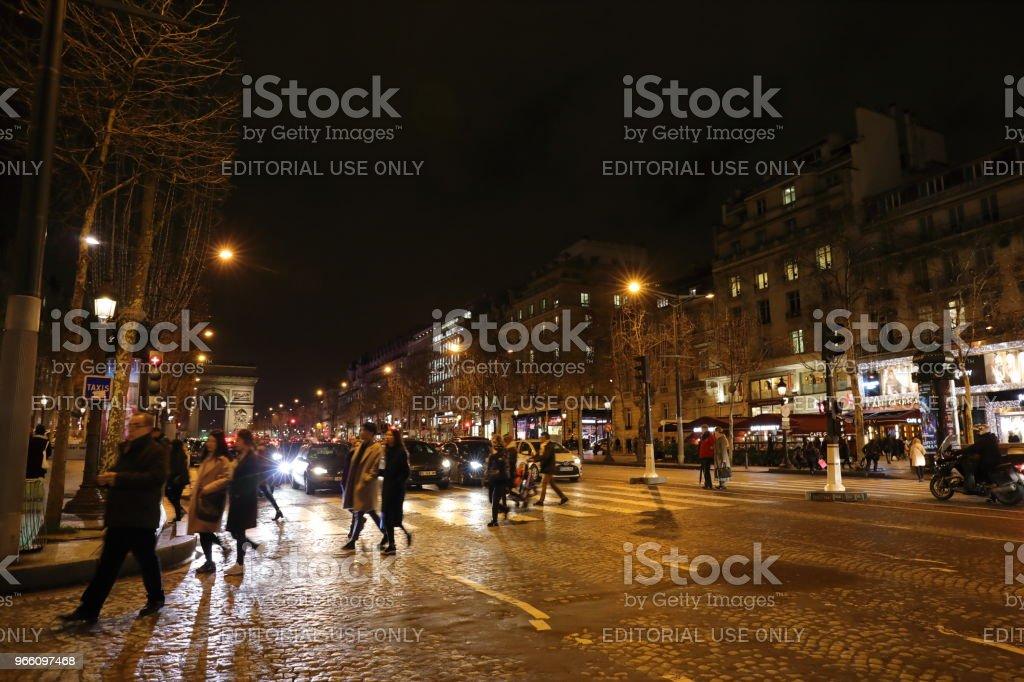 Nightscape von Paris, Frankreich - Lizenzfrei Europa - Kontinent Stock-Foto