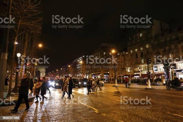 Ночной Пейзаж Парижа Франция — стоковые фотографии и другие картинки Без людей