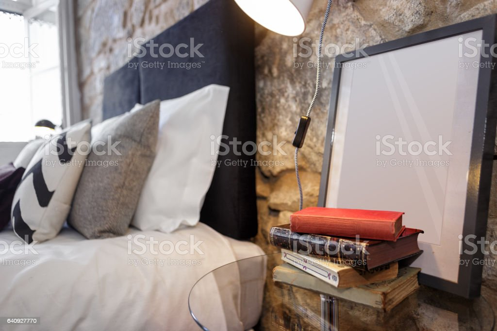 Nightstand With Old Books stock photo