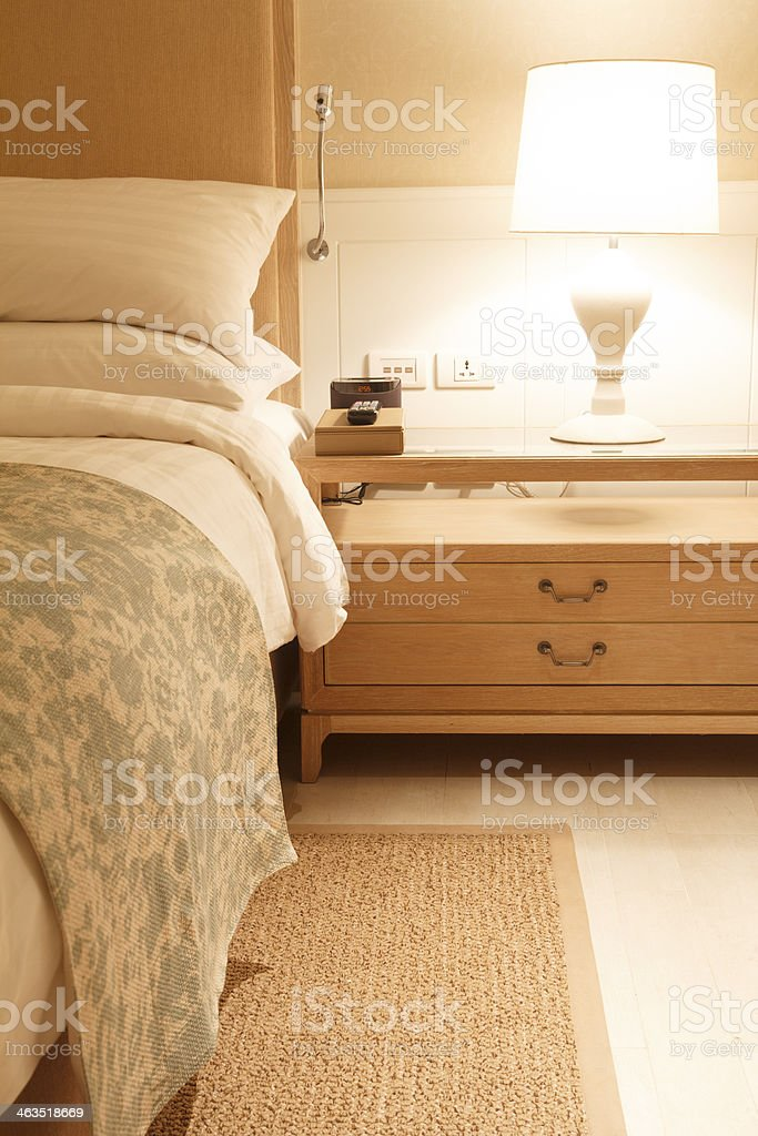 Nightstands Beside Cozy Bed At Night Stock Photo Download Image Now Istock