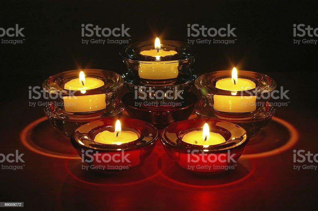 Nighttime Candles royaltyfri bildbanksbilder