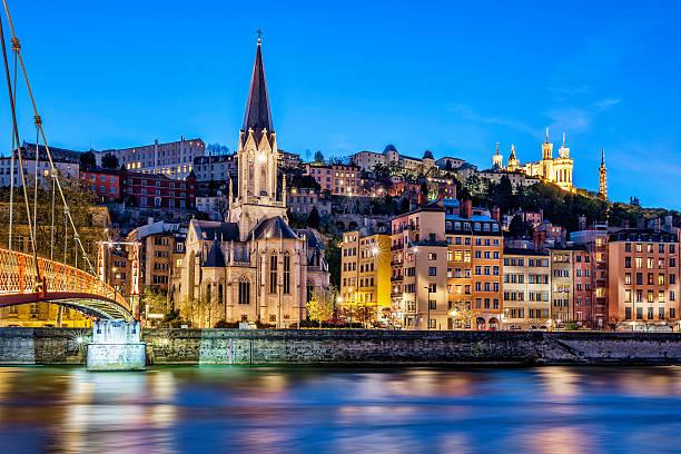 Célèbre de Lyon avec vue sur la Rivière Saône - Photo