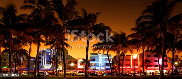 istock nighttime view of Ocean Drive, South Beach, Miami Beach, Florida 503194653