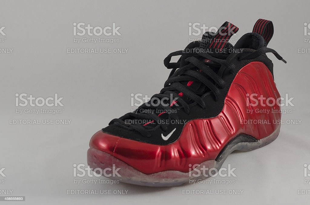 Nike Air Foamposite One royalty-free stock photo