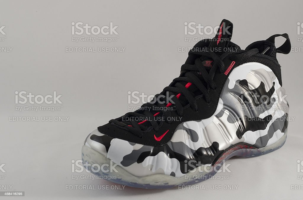 Nike Air Foamposite Sneaker royalty-free stock photo