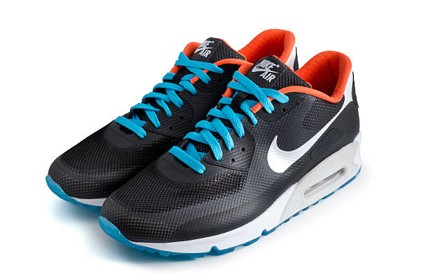 nike air max 90 hyperfuse trainers - advertising isometric stock pictures, royalty-free photos & images
