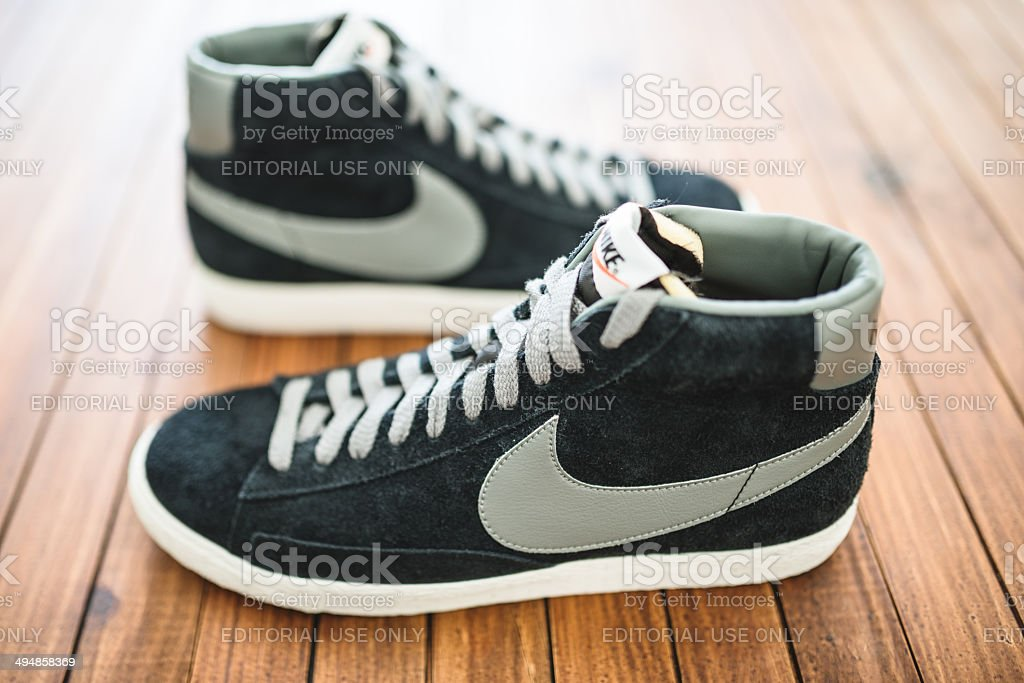 67fbcfcf Nike Blazer Mid Vintage Close Up Stock Photo & More Pictures of ...