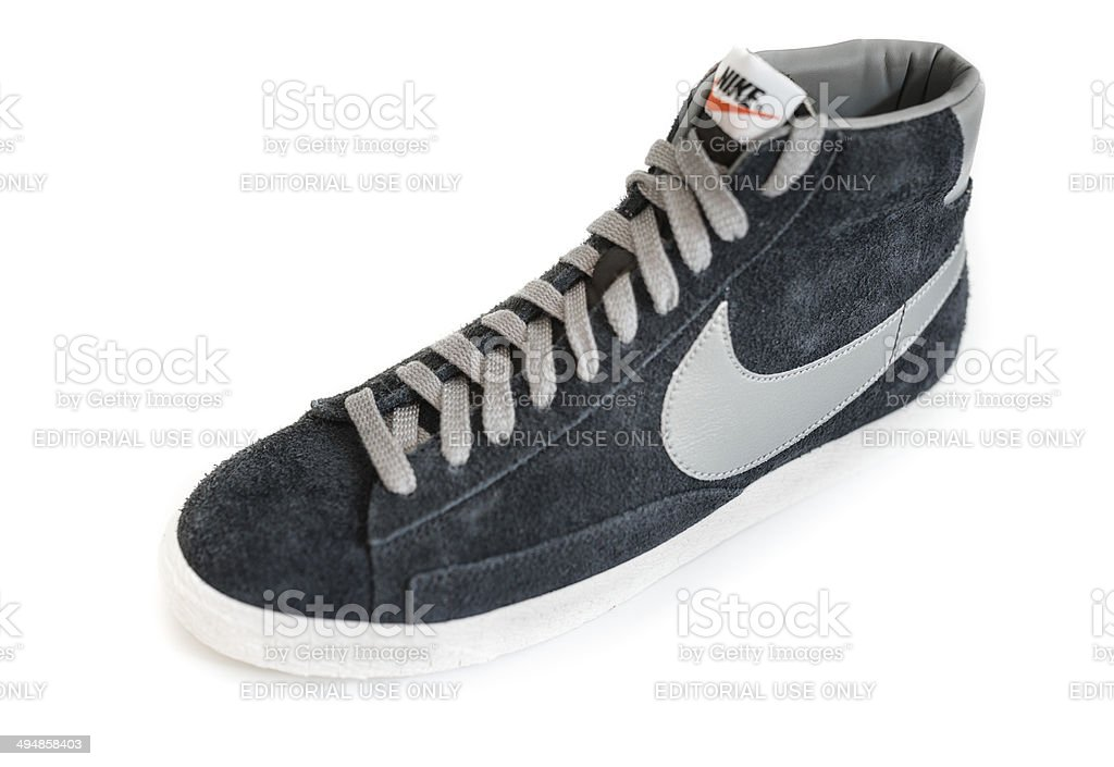 129f1b88 Nike Blazer Mid Vintage Close Up Stock Photo - Download Image Now ...