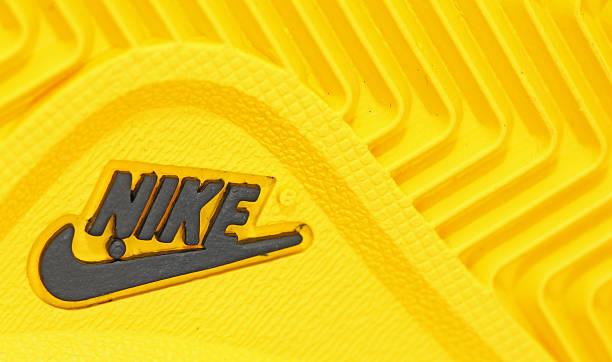 Nike company name and logo stock photo