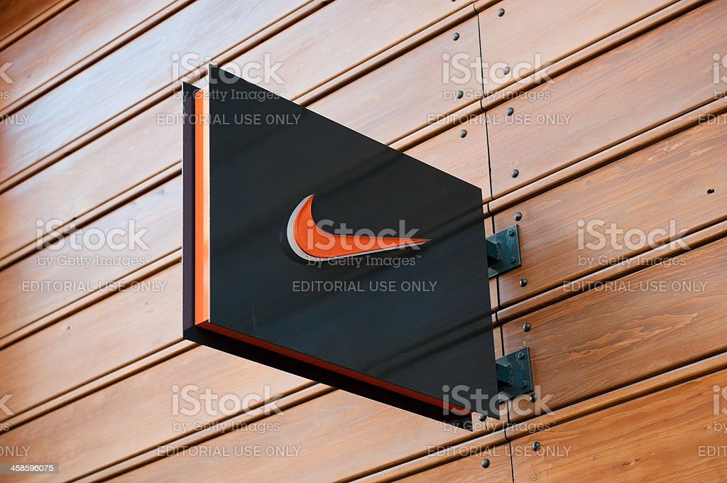 Nike store logo, London, UK stock photo