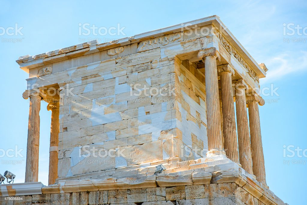 Nike temple in Acropolis stock photo