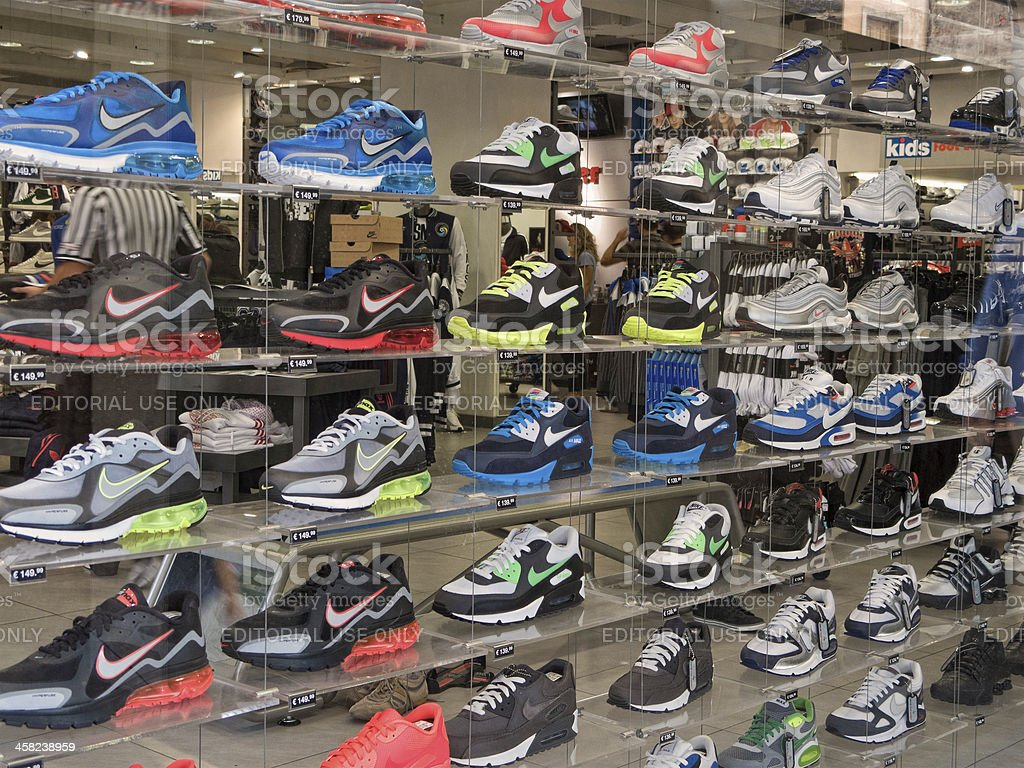 Nike wall stock photo