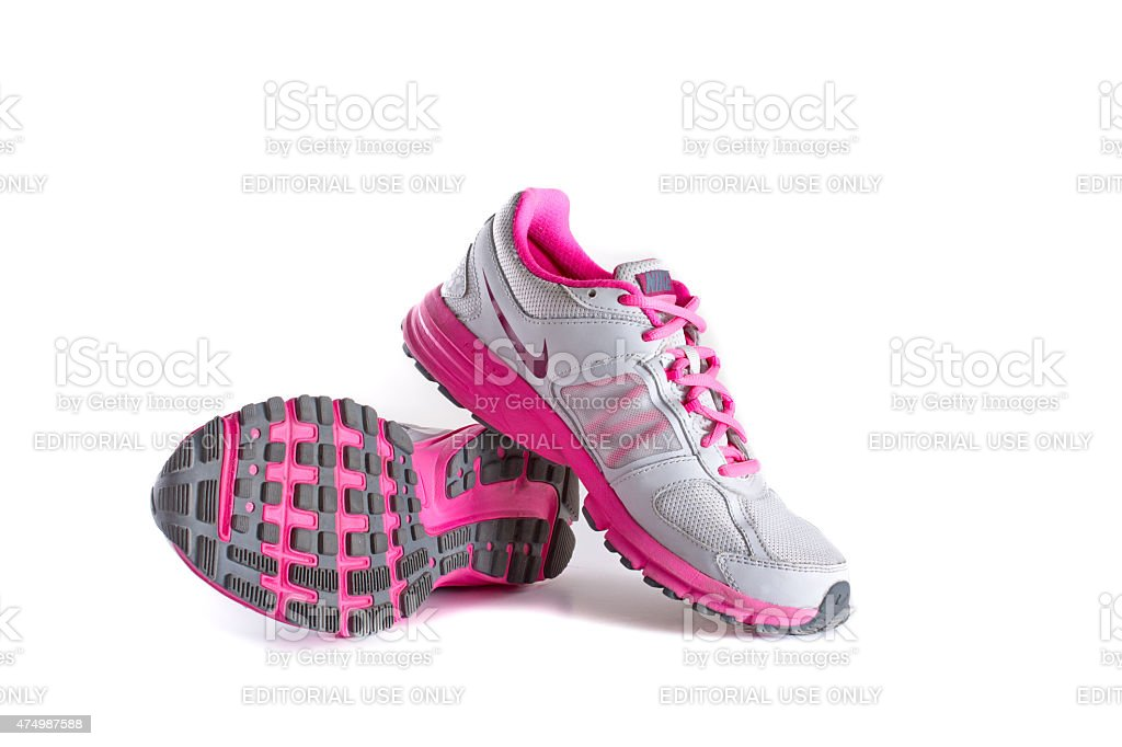 7a5e9b11 Nike Womens Pink Running Shoes Sneakers Stock Photo & More Pictures ...
