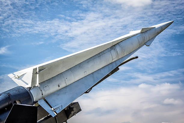 Nike-Hercules Missile in defense readiness stock photo