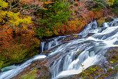 Nikko Waterfall, Ryuzu no taki or Ryuzu waterfall , in autumn season of Nikko, Japan