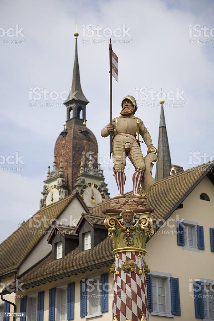 Niklaus Thut Statue royalty-free stock photo