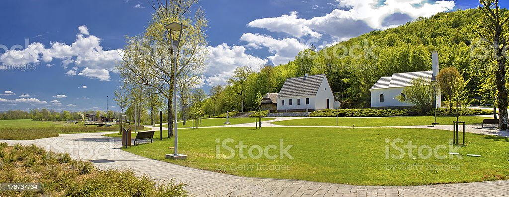 Nikola Tesla birth house, Smiljan royalty-free stock photo