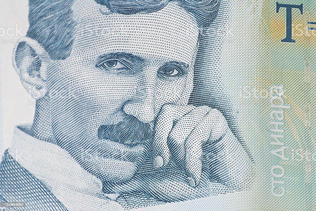 Nikola Tesla Serbian Money Hundred Dinars Stock Photo More