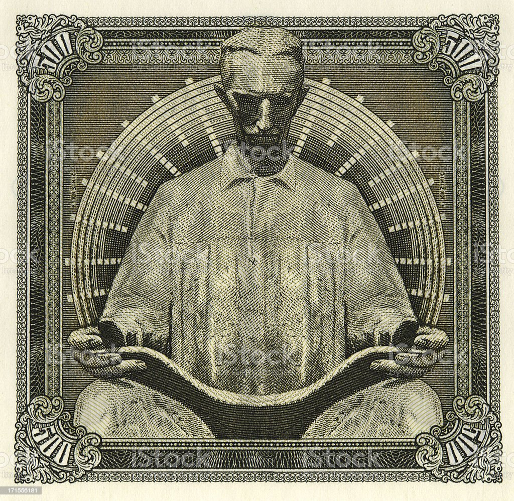 Nikola Tesla Yugoslavia 5000 Dinara stock photo