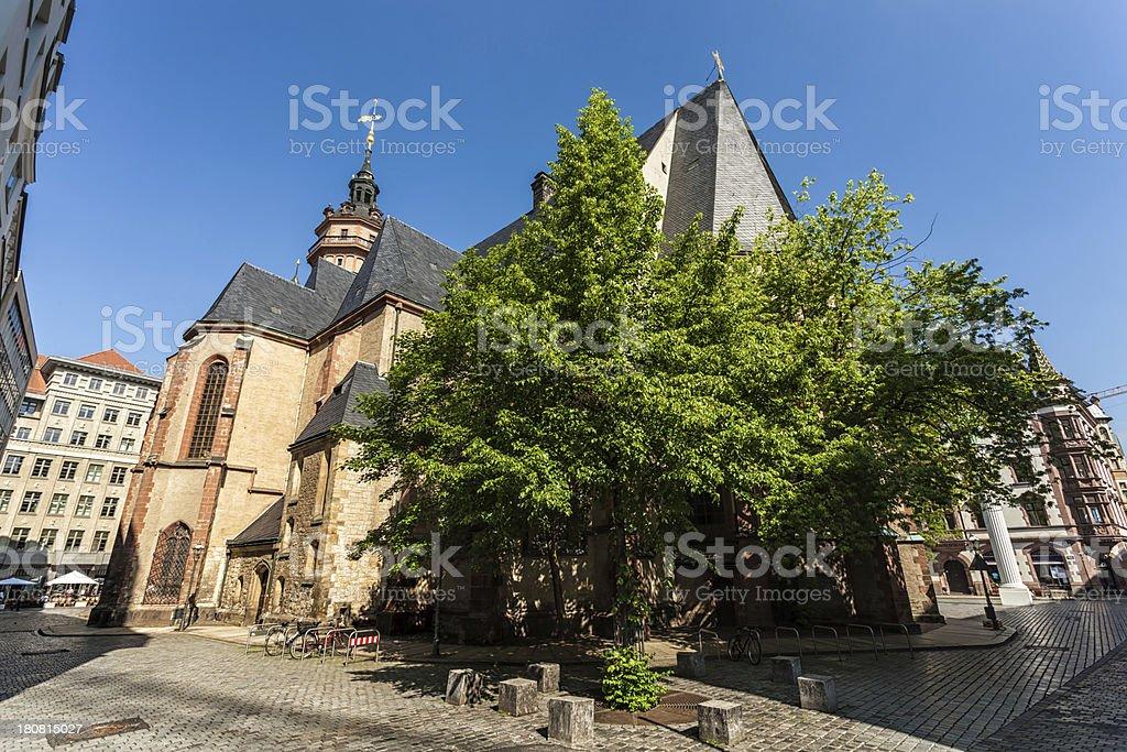 Nikolai Church in Leipzig royalty-free stock photo