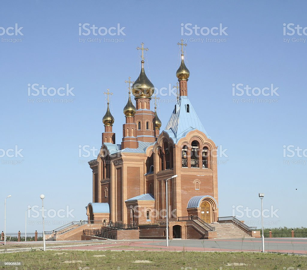 Nikolay Chudotvortsa's church (the item of Izluchinsk) royalty-free stock photo