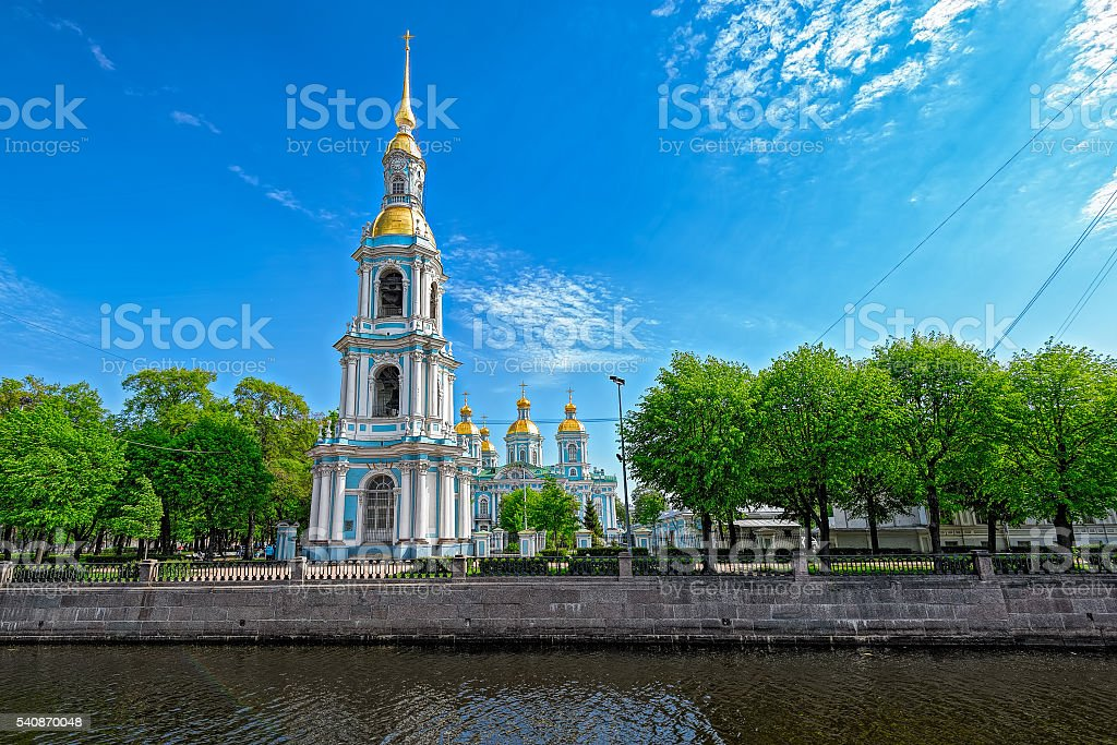 Nikolsky cathedral belltower. stock photo