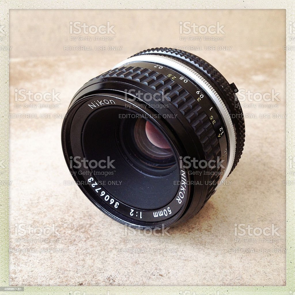 Nikon 50mm manuel lens royalty-free stock photo