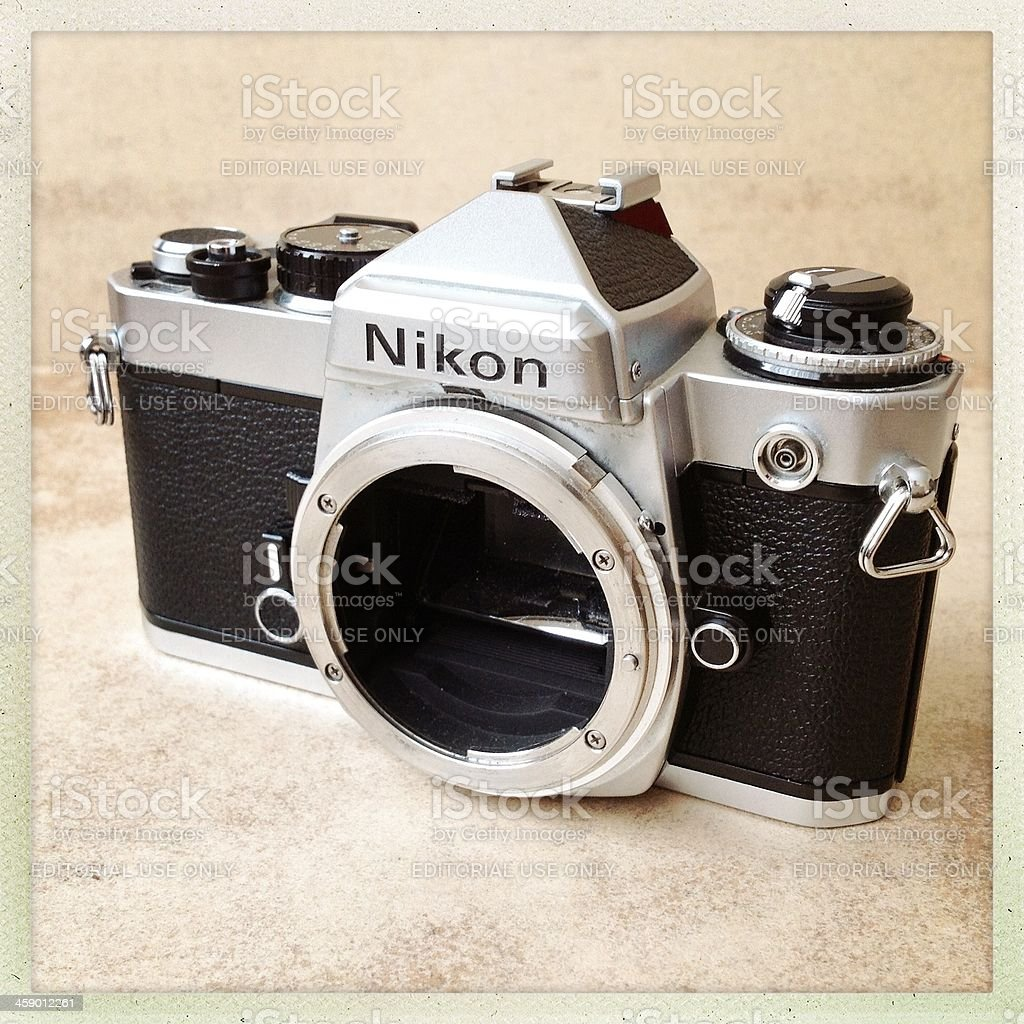 nikon fe camera body royalty-free stock photo
