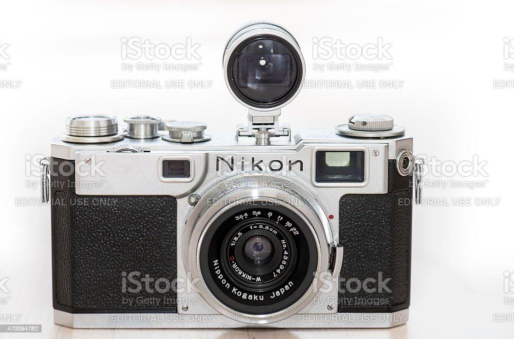 Nikon Entfernungsmesser Xxl : Nikon s rangefinder kamera modell mit varifocal finder stock