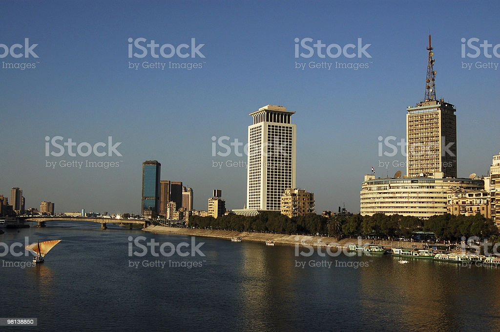 Nile at Cairo royalty-free stock photo