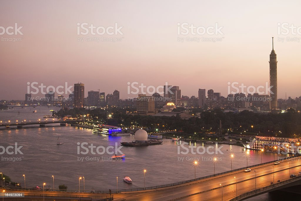 Nile at dusk stock photo
