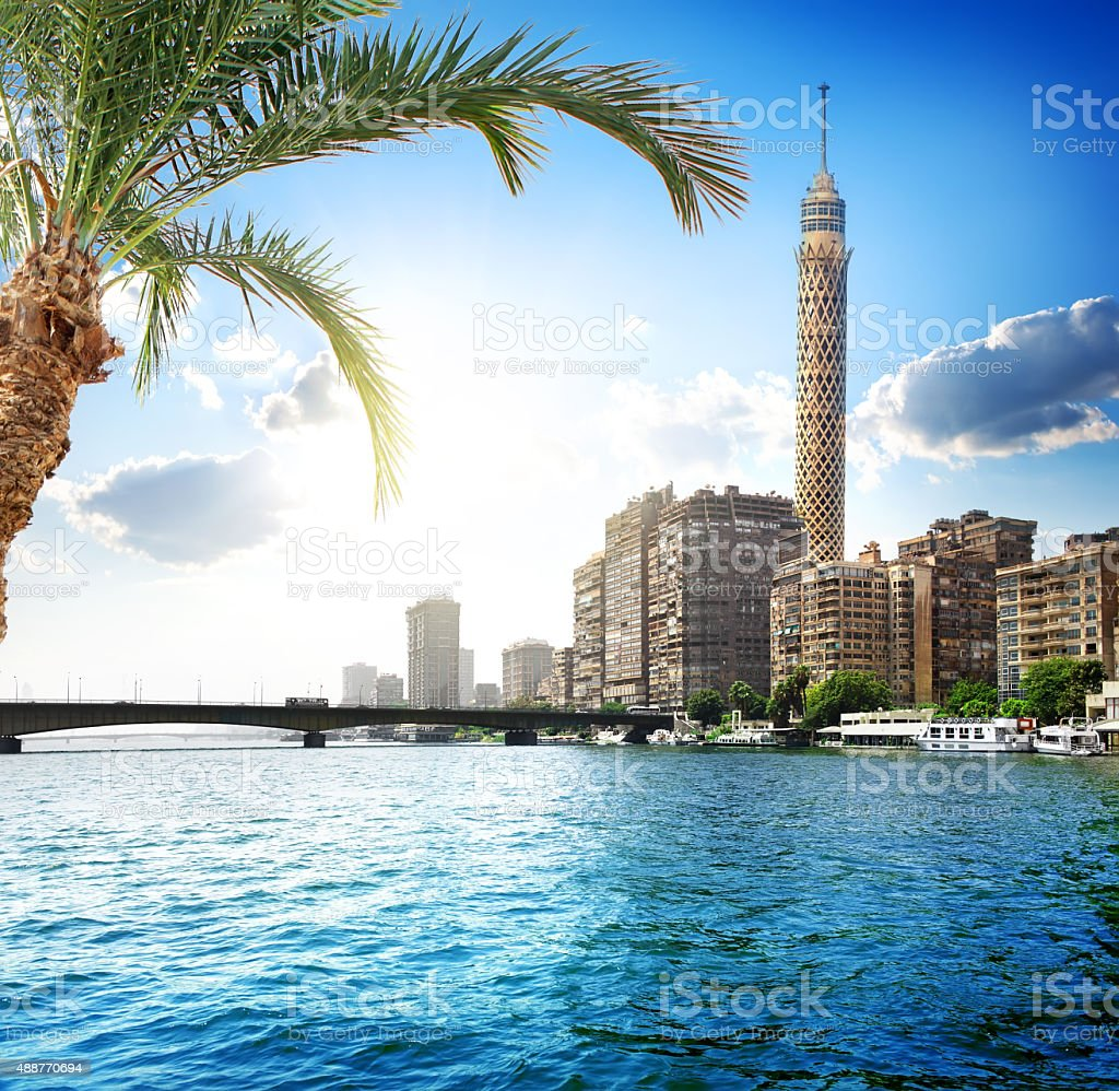 Nile in Cairo stock photo