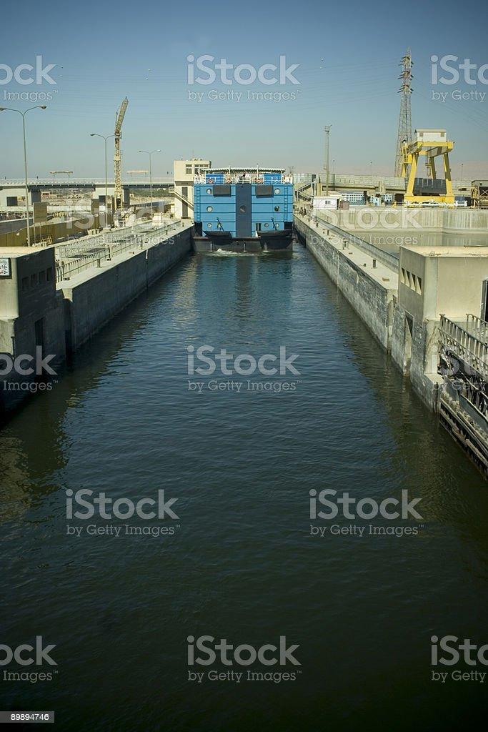 Nile Locks in Esna royalty-free stock photo