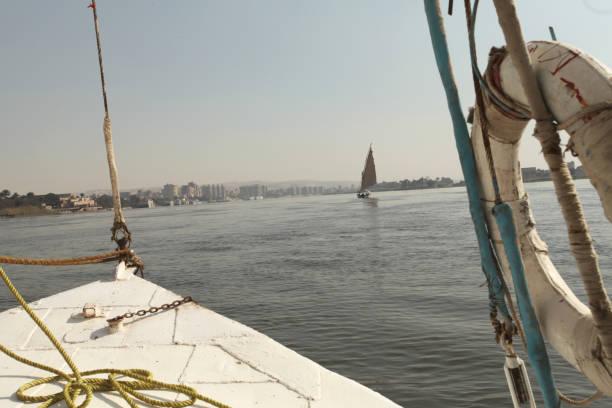 Nile River Boat in Cairo Egypt stock photo