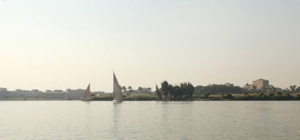 Nile River in Cairo Egypt stock photo