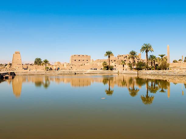 Río Nilo en Luxor, Egipto - foto de stock