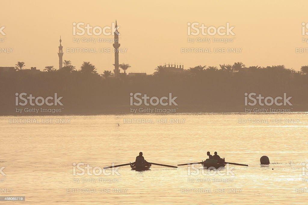 Nile River near Luxor, Egypt royalty-free stock photo