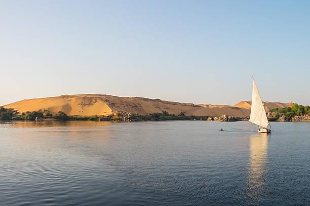 Nil-Kreuzfahrt bei Sonnenuntergang, Ägypten – Foto