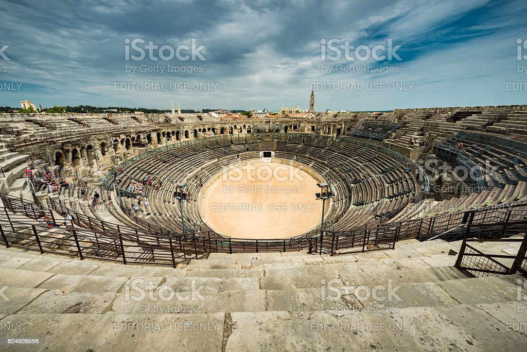 Nimes arena stock photo