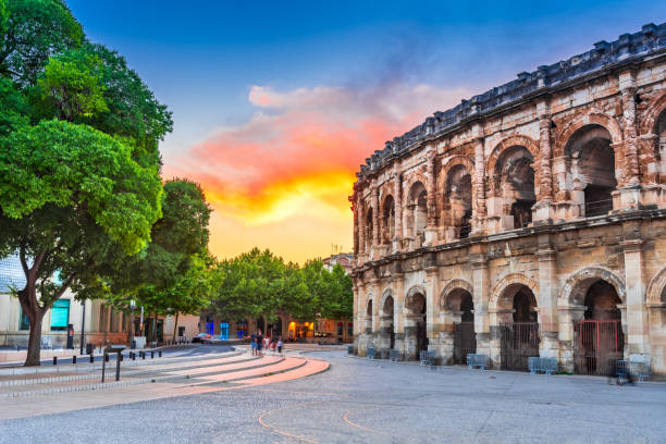 Nimes, France - Ancient Roman Arena stock photo