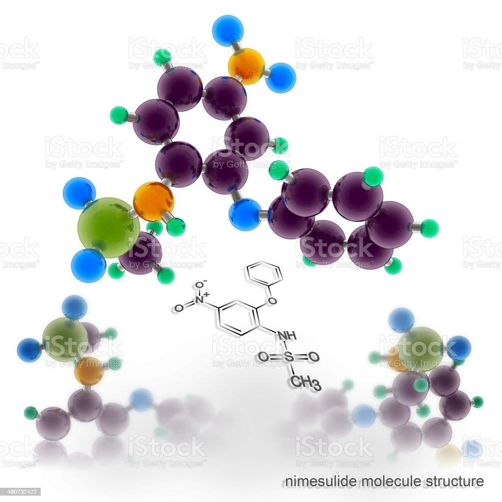 nimesulide molecule structure stock photo