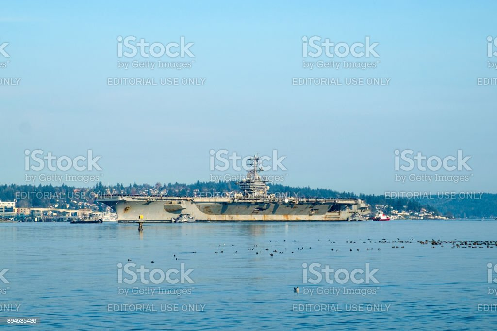 USS Nimitz aircraft carrier stock photo